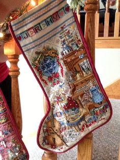 Counted Cross Stitch Christmas Stocking Music Room