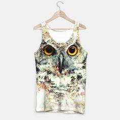 Owl II Tank Top #owl #wild #animals #watercolor #art #painting #illustration #digitalart #women #men #kids #fashion #tshirt