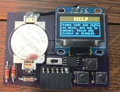 Build a business card sized game console! http://www.instructables.com/id/Business-CardGame-Console-ATtiny85-and-OLED-Screen/