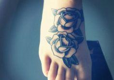 Foot #tattoo #design for girls