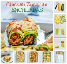 Clean Eating Zucchini Chicken Enchilada Roll-Ups are Heaven! - Clean Food Crush Clean Eating Zucchini Chicken Enchilada Roll-Ups are Heaven! Clean Eating Recipes For Dinner, Clean Recipes, Paleo Recipes, Mexican Food Recipes, Cooking Recipes, Clean Meals, What's Cooking, Healthy Dinners, Dinner Recipes