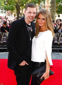Professor Green introduces Millie Mackintosh to musical friends Plan B and Tinie Tempah at the Ill Manors premiere | Mail Online