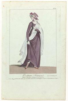 Costume Français, puis Nouveau Costume Parisien 1799-1810, No. 21: Robe à l'Esclave..., Anonymous, J. Chereau, 1799 - 1810