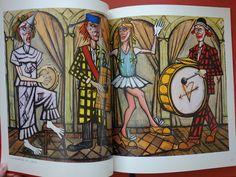 """Bernard Buffet - Handwritten dedication in the exhibition catalogue """"Les clowns musiciens"""" - Catawiki"""