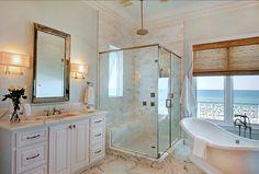 Bathroom. Coastal Bathroom. I am loving this #Bathroom!