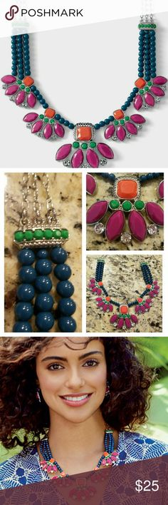 "{JUST IN} Lia▪Sophia▪""Flamenco""▪Necklace Excellent condition!  Description in Pic 4 Pic 3 shows how it's worn. Lia Sophia Jewelry Necklaces"