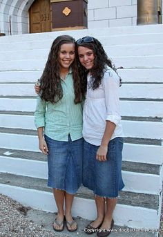 I love jean skirts, but theirs are so cute! The Duggar Girls