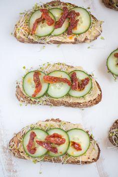 Roasted Garlic Hummus Toast   small green kitchen
