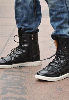 Luxury Men's Trend: High-tops Lanvin paired white high-tops with a ...