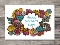 mother's day card - FREE printable by Creativemamma.com
