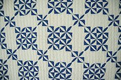 Vintage 30's Blue White Orange Peel Antique Quilt Unusually Small Scale | eBay