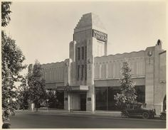 The Maddux Lincoln auto dealership 9280 Wilshire Boulevard.    Photo Credit: California State Library