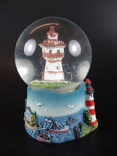 New Jersey Snow Globe 65mm Blue Past Souvenirs Snow
