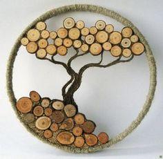 1000 and 1 piece of wood Application ideas Application ideas und 1 Stück Holz Anwendungsideen Anwendungsideen b 1000 and 1 piece of wood Application ideas Application ideas b ideas - Cork Crafts, Wooden Crafts, Diy And Crafts, Wooden Art, Wood Wall Art, Wood Projects, Woodworking Projects, Fine Woodworking, Wood Slice Crafts