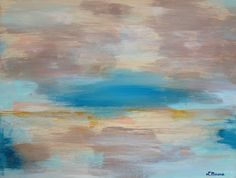 Lakeside Fog by Lindsay Marcus #abstract #painting #acrylic #art
