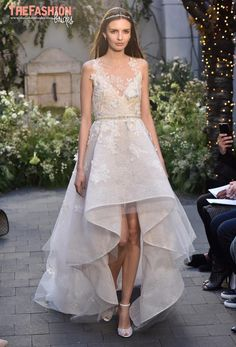 From city hall ceremonies to fairy-tale weddings, Monique Lhuillier set out to cater to every type of bride with her collection. There were a number of chic, short cocktail ensembles that ranged fr…