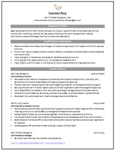 Professional Curriculum Vitae / Resume Template for All Job Seekers  Sample Template of an Administrative Director with relevant Work Experience, Professional Curriculum Vitae with Free Download in Word Doc ( 2 Page Resume) (Click Read More for Viewing and Downloading the Sample)  ~~~~ Download as many CV's for MBA, CA, CS, Engineer, Fresher, Experienced etc / Do Like us on Facebook for all Future Updates ~~~~