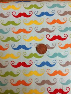 MOUSTACHES ON BLUE RILEY BLAKE 100% COTTON FAT QUARTER | eBay Blue Crafts, Moustaches, Riley Blake, Fat, Kids Rugs, Fabric, Cotton, Home Decor, Tejido