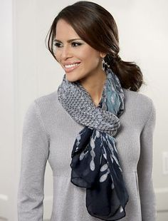 Delicate Pattern Scarf from Monroe and Main.  Layer 'round you a sheer panel of exquisite, jewel-like artistry.
