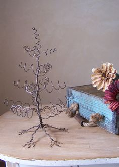 Pine Tree Display Jewelry Holder Centerpiece by milliemoments, $32.00