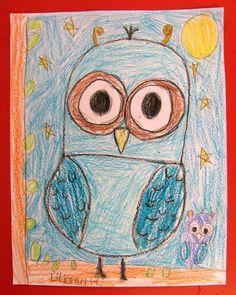 Veilig leren lezen -'kern Teach How to Draw Gorgeous Owls in Grade One Art Lessons For Kids, Art For Kids, Art Drawings, Pencil Drawings, Drawing Owls, Drawing Art, Drawing Step, Art Sub Plans, Directed Drawing