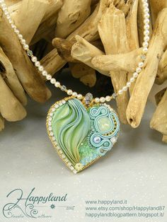 *P Romantic heart pendant TUTORIAL by Happyland87 on Etsy, $13.00