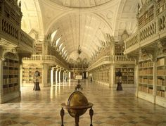 Library at Mafra National Palace, Portugal