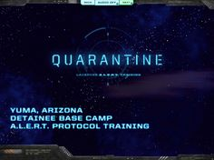 Quarantine game, developed in Captivate