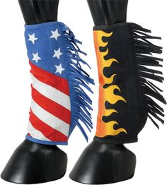 Performers 1st Choice Sport Boot Covers - Stars and Stripes or Flames! | ChickSaddlery.com