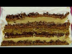 Prepară cel mai elegant desert cu gust divin!Tort de nucă cu cremă de cafea și cappuccino  SavurosTV - YouTube Elegante Desserts, Cake Factory, Sauce Tomate, Cacao, Biscotti, Nutella, Tiramisu, Sweets, Cookies