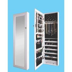 Red Barrel Studio Berger Over the Door Jewelry Armoire with Mirror Finish: White