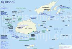 Map Of Fiji Fiji Map Geography Of Fiji Map Information World