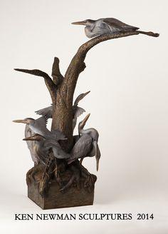 Ken Newman Sculptures | sculpture | bronze | wood | wildlife art | figurative sculpture | Idaho sculptor | animal art |