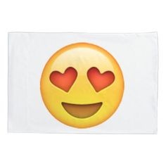 #Emoji - Heart-Shaped Eyes Pillowcase - #Pillowcases #Pillowcase #Home #Bed #Bedding #Living
