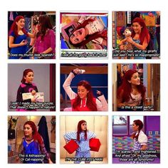 Ariana Grande as Cat Valentine on the Nickelodeon (spelling?) show Victorious Victorious Nickelodeon, Icarly And Victorious, Cat From Victorious, Victorious Quotes, The Thundermans, Drake And Josh, Nickelodeon Shows, Sam And Cat, Old Disney