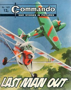 2628 - Commando - War Stories In Pictures - Green Airplane - Last Man Out Comic Book Covers, Comic Books, Action Story, War Comics, Picture Story, Books For Boys, Classic Comics, Nose Art, Aviation Art