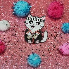 Repost @thesugarfox  Happy Saturday everyone!  Chef HaHasaki is busy preparing sushi in his little kitchen. Let's enjoy some sushi from him!  . Sushi chef Kitty HaHasaki pins now available on thesugarfox.bigcartel.com    (Posted by https://bbllowwnn.com/) Tap the photo for purchase info.  Follow @bbllowwnn on Instagram for the best pins & patches!