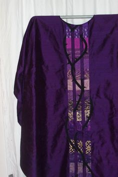 Jeff Wunrow purple chasuble with woven thorn branches through three columns