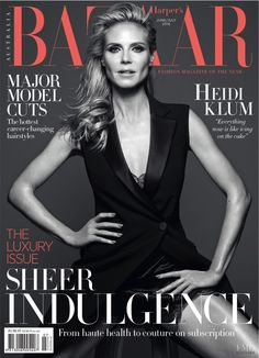Heidi Klum featured on the Harper's Bazaar Australia cover from June 2016