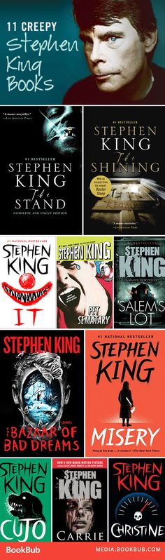 11 of Stephen King's creepiest books. These scary books are worth reading!