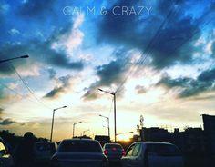 Calm & Crazy #calm #crazy #sky #clouds #traffic #bengaluru #deepstudio #mobilephotography #shotfromiphone6 www.deep.studio