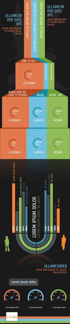 Infographics Template Collection - 105 Infographic Templates and of Elements Infographic Templates, Infographics, Web Design, Graphic Design, User Interface Design, Presentation Design, Lorem Ipsum, Illustrator, App