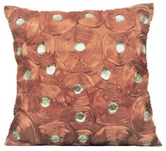 Square Beaded /& Jute Dahlia Flower Pillows Cover Flower Bud 24x24 Cotton Linen Pillows Cover Light Blue Pillow Sham Covers For Couch