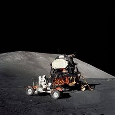 First to walk...then drive on the moon
