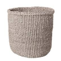 Hand Woven Grey Basket by Far & Wide Collective