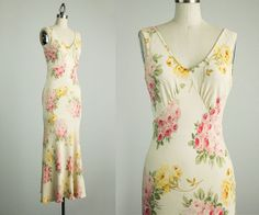90s Vintage Betsey Johnson Floral Maxi Sun Dress / by decades, $66.00