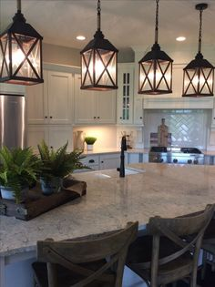 Rustic Kitchen Ideas - Rustic kitchen closet is a lovely mix of country cottage as well as farmhouse decor. Browse 30 ideas of rustic kitchen design right here Kitchen Island Lighting, Kitchen Lighting Fixtures, Kitchen Islands, Country Kitchen Lighting, Farmhouse Light Fixtures, Farmhouse Pendant Lighting, Island Pendant Lights, Kitchen Island Light Fixtures, Cabinet Lighting