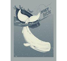 Jillian Nickell // Moby Dick. $25.00, via Etsy.