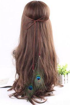 Feather Headband Women Festival Feather Headband Hippie Headdress Hair – nantahalas