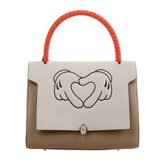 ANYA HINDMARCH beige Ebury zip BATHURST tote heart hands bag shopper handbag